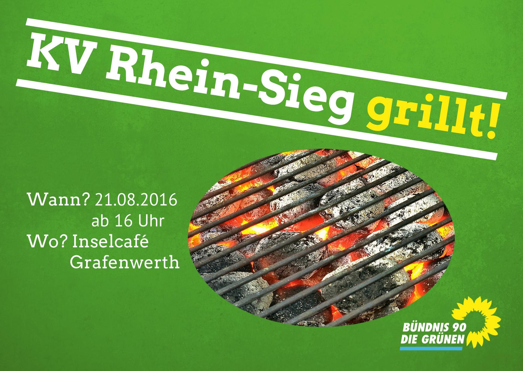 GRÜNE Königswinter nutzen Grillfest des Kreisverbandes für interne Vernetzung