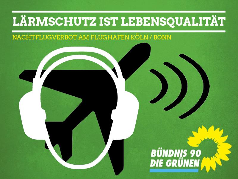 GRÜNE Königswinter treten der Lärmschutzgemeinschaft Flughafen Köln/Bonn e.V. bei