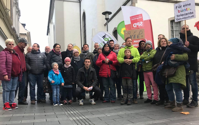 Aufstehen gegen Rassismus – Protest gegen AfD‐Veranstaltung in Königswinter