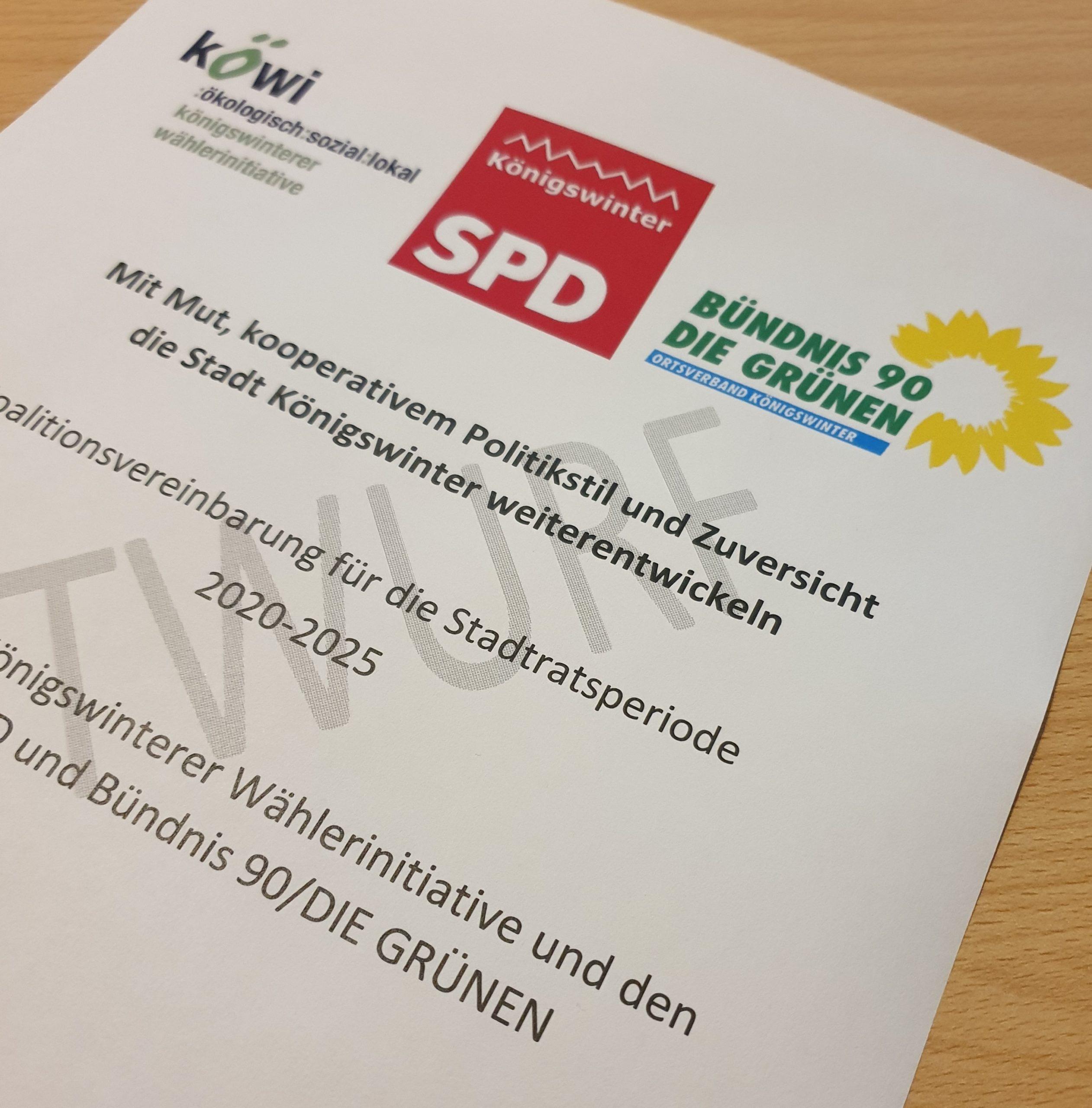 GRÜNE stimmen für Koalitionsvereinbarung mit KöWI und SPD